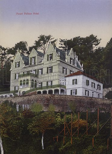 Mount Palace Hotel. Illustration for a souvenir booklet about Madeira, late 19th or early 20th century.