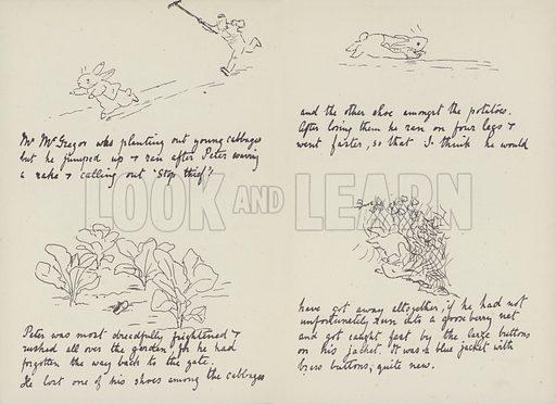 Letter to Noel, 4 September 1893. Facsimile. Illustration for The Tale of Beatrix Potter, A Biography by Margaret Lane (Frederick Warne, 1946).