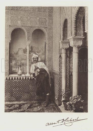 Albert F Calvert, Portrait and Signature. Illustration for The Alhambra by Albert F Calvert (Philip, 1904).