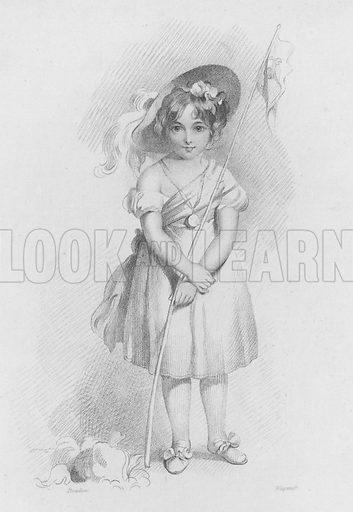 Little Girl. Illustration for The Book of Gems edited by SC Hall (Henry G Bohn, 1849).