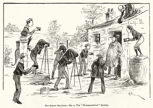 The Photographical Society. Illustration for The Boy's Own Annual, 1898–99.