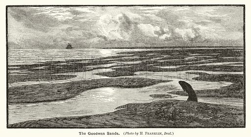 The Goodwin Sands. Illustration for The Boy's Own Annual, 1898–99.