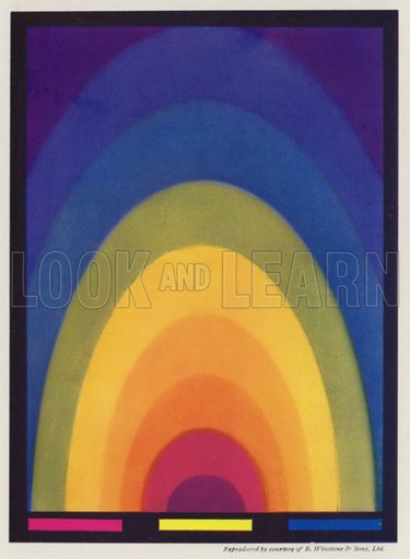 Colour chart. Illustration for Colour Schemes for the Modern Home by Derek Patmore (Studio, 1933).