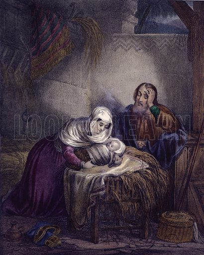 The birth of Christ. Preceptive Illustrations of the Bible published by Thomas Varty (c 1880).