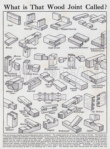 Wood joints. Illusration for Everybody's Enquire Within (Amalgamated Press, c 1937).