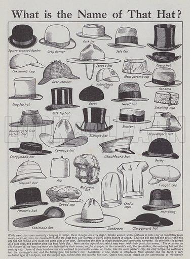Hats. Illusration for Everybody's Enquire Within (Amalgamated Press, c 1937).