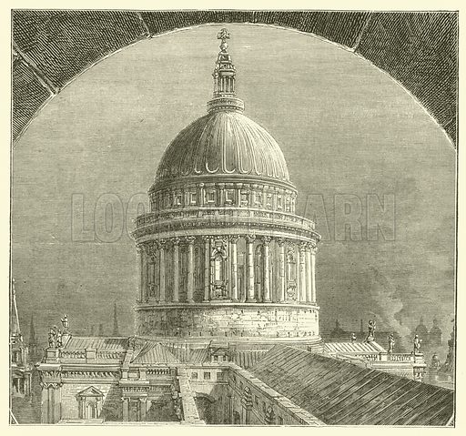 Dome, St Paul's Cathedral, London. Illustration for The Fireside Pictorial Annual, 1894.