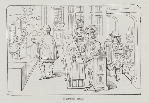 A spare meal. Illustration for The Fireside Pictorial Annual, 1894.