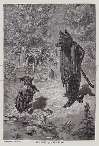 The Wolf and the Lamb. Illustration for The Fireside Pictorial Annual, 1894.