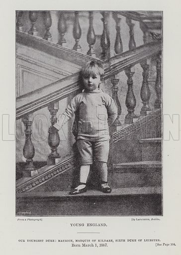Our Youngest Duke, Maurice, Marquis of Kildare, Sixth Duke of Leinster. Illustration for The Fireside Pictorial Annual, 1894.