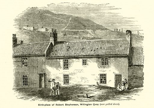 Birthplace of Robert Stephenson, Willington Quay. Illustration for The Boy's Own Annual, 1881.