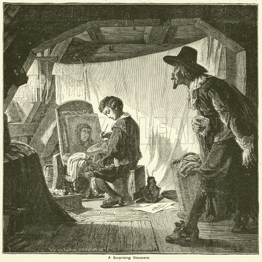 The young Rubens. Illustration for The Boy's Own Annual, 1881.