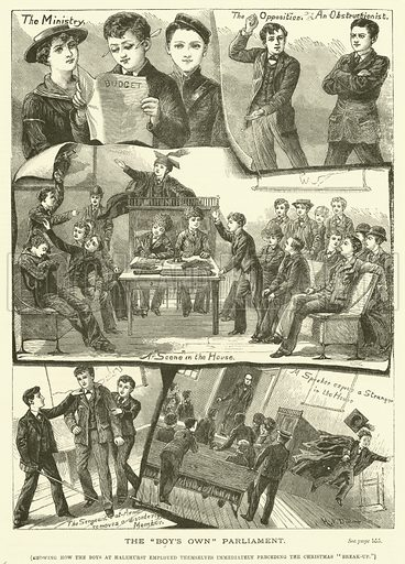 """The """"Boy's Own"""" Parliament. Illustration for The Boy's Own Annual, 1881."""