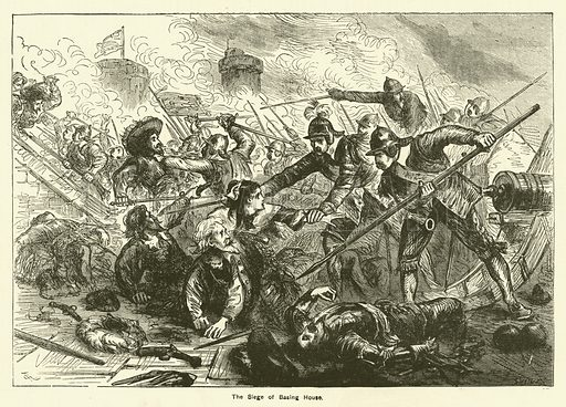The siege of Basing House. Illustration for The Boy's Own Annual, 1881.