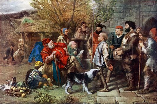 Sir John Falstaff reviews his ragged regiment