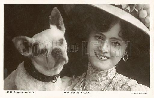 Miss Gertie Millar with dog
