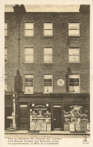 Blandford Street, Michael Faraday's house, Marylebone, London