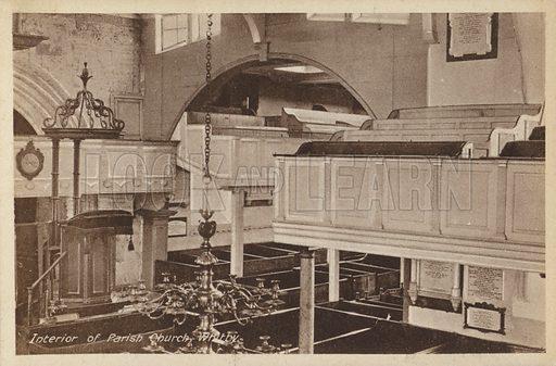 Parish Church, Whitby. Postcard, early 20th century.