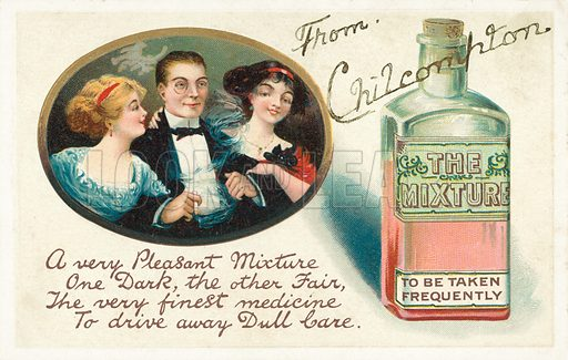 The mixture. Postcard, early 20th century.