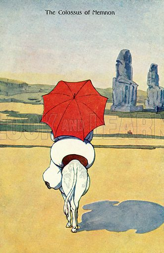 The Colossus of Memnon. Postcard, early 20th century.