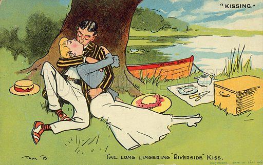 The long lingering riverside kiss
