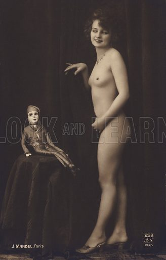 French nude and a doll