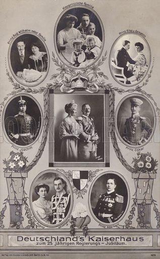 Deutschland's Kaiserhaus. Postcard, early 20th century.