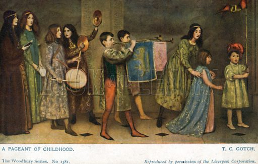 A Pageant of Childhood. Postcard, early 20th century.