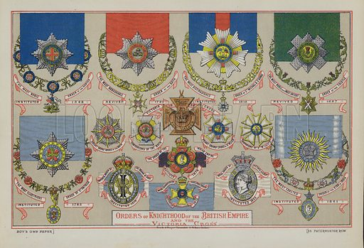 Orders of Knighthood of the British Empire and the Victoria Cross