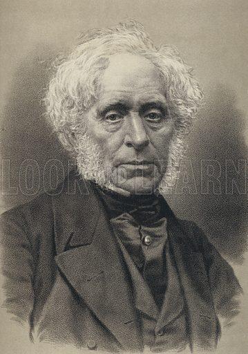 Sir David Brewster, Portrait. Illustration for Cassell's Old and New Edinburgh (c 1885).