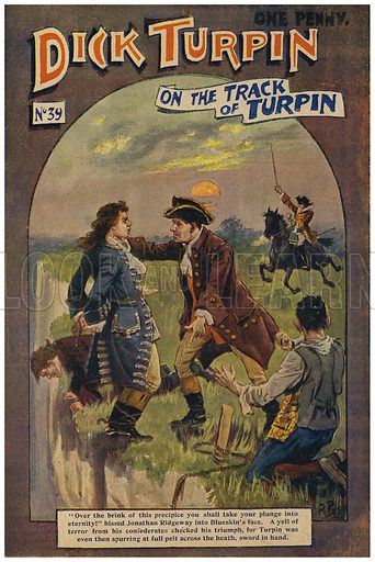 Dick Turpin.  Cover of Dick Turpin story paper, early 20th century.