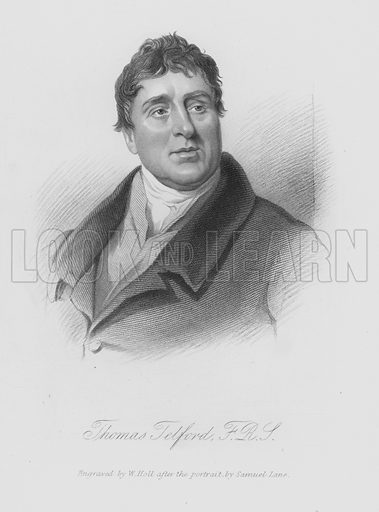 Thomas Telford. Illustration for Lives of the Engineers by Samuel Smiles (John Murray, 1862).