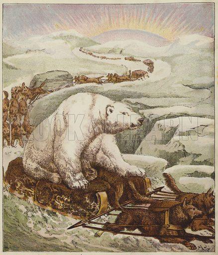 The Lion's Reception. Illustration for Little Jack Horner's Picture Book (George Routledge, c 1880).