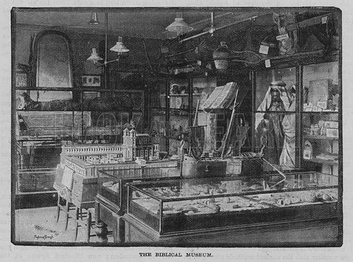 The Biblical Museum, Serjeants' Inn, Fleet Street, London.  Illustration for The Quiver, 1893.