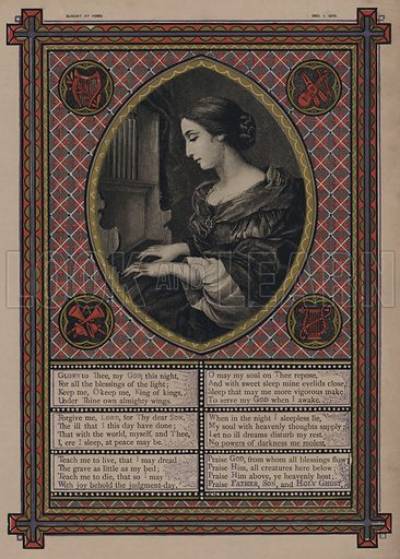 Hymn to God.  Illustration for Sunday at Home, 1870/71.