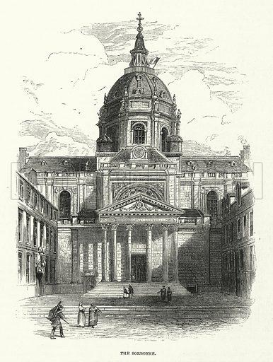 The Sorbonne, Paris.  Illustration for Sunday at Home, 1870/71.