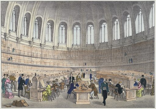 Reading Room in the British Museum, London