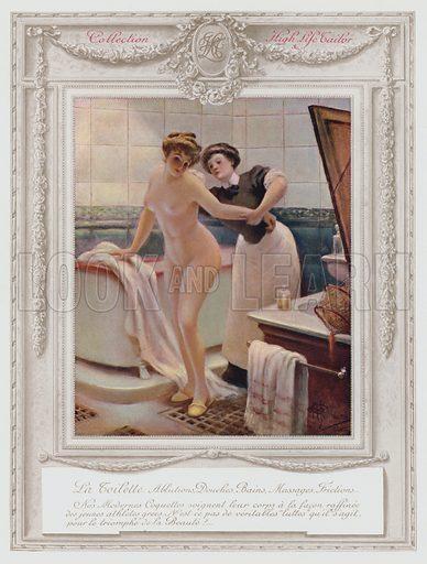 Belle Epoque Paris, Fashionable lady taking her bath