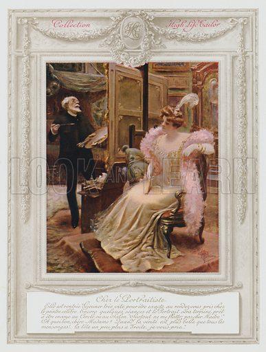 Belle Epoque Paris, Fashionable lady having her portrait painted