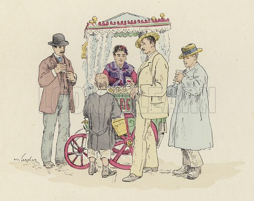 Lemonade seller at the fair