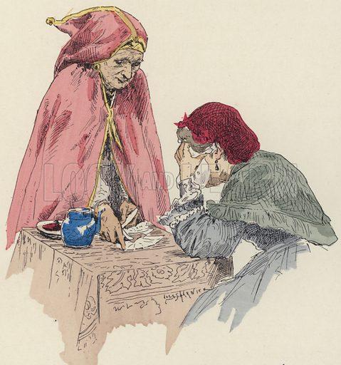 Fortune teller at the fair