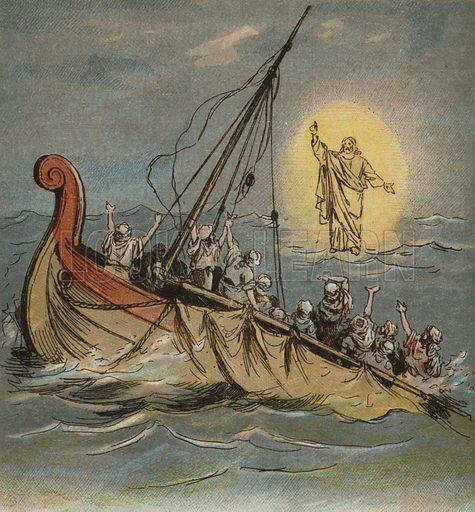 Jesus Christ, walking on the sea