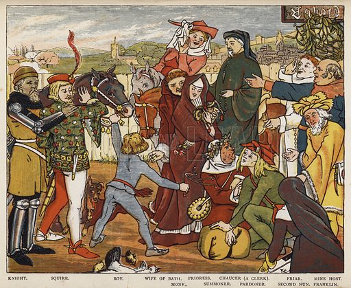 Geoffrey Chaucer, The Canterbury Tales, The Pilgrims leaving The Tabard Inn