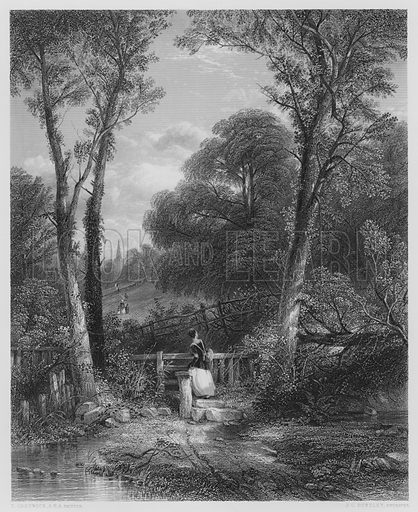 The Way to Church, from the picture in the Vernon Gallery. Illustration for The Art Journal, 1849.