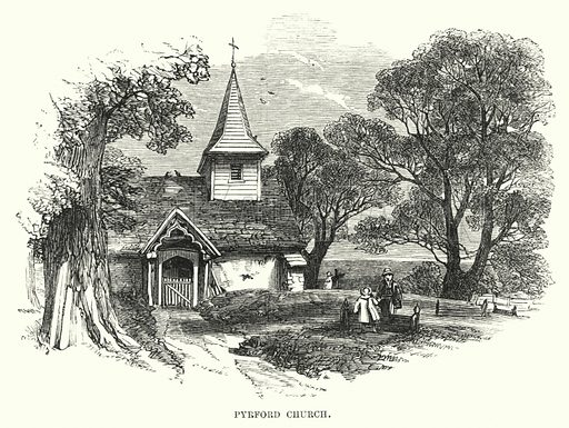 Pyrford Church. Illustration for The Art Journal, 1852.
