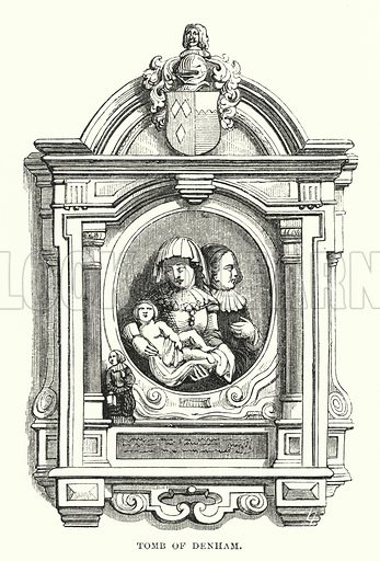 Tomb of Denham. Illustration for The Art Journal, 1852.