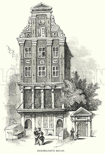 Rembrandt's House. Illustration for The Art Journal, 1856.