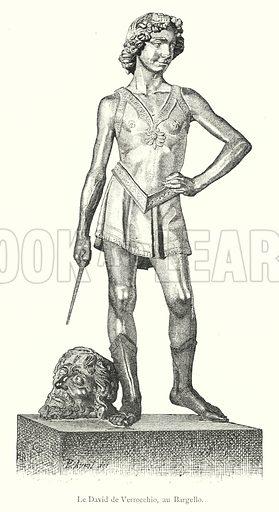 Le David de Verrocchio, au Bargello. Illustration for Florence by Charles Yriarte (Paris, 1881).