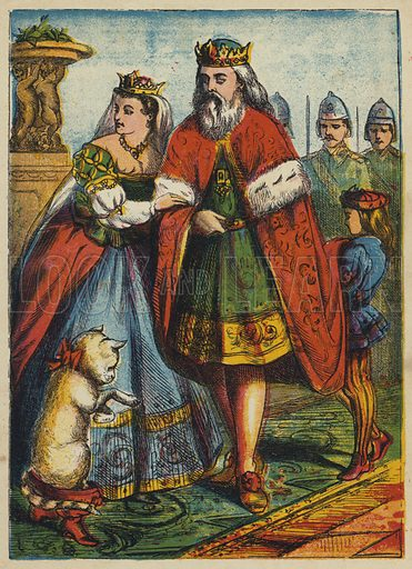 The King and Princess Visit the Marquis. Illustration for Aunt Friendly's Gift (Frederick Warne, c 1870).