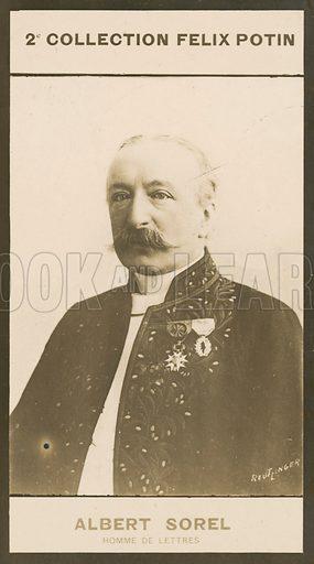 Albert Sorel, Homme De Lettres, 1842-1906. Illustration for 510 Celebrites Contemporaines, 2me Collection, Felix Potin.  Only suitable for repro at small size.
